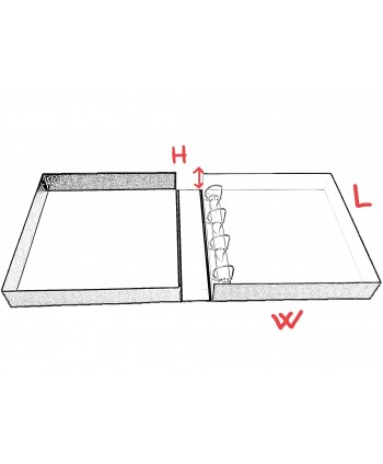 """READY-ASSEMBLED 4 D-RINGBINDER LINED BOXES """"Reni"""" 330x330x60 mm"""