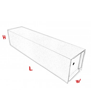 """SELF-ASSEMBLY TUBE BOXES WITH INTERNAL SUPPORT """"Fattori"""" 1550x180x180 mm"""