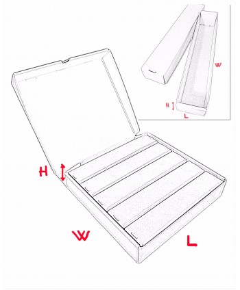 """SELF-ASSEMBLY BOXES FOR HORIZONTAL SLIDE STORAGE """"Pinturicchio"""" 325x310x60 mm"""