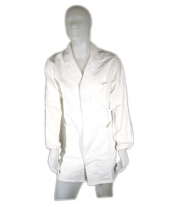 WHITE COTTON WORK COAT -...