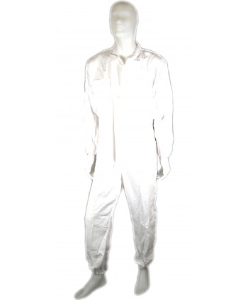 WHITE COTTON COVERALLS -...