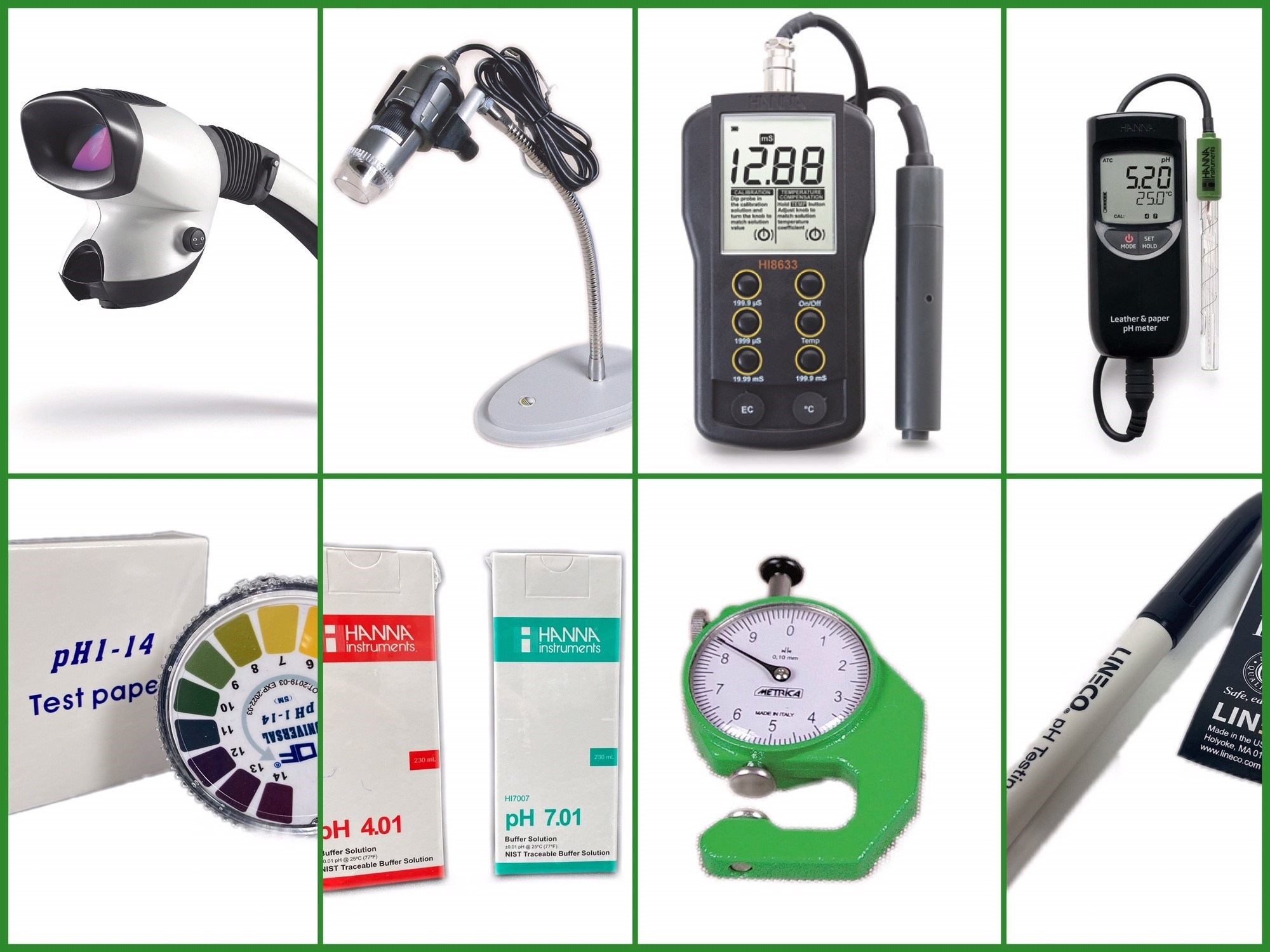 Measuring devices and environmental monitoring