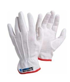 Sure-grip archival cotton gloves