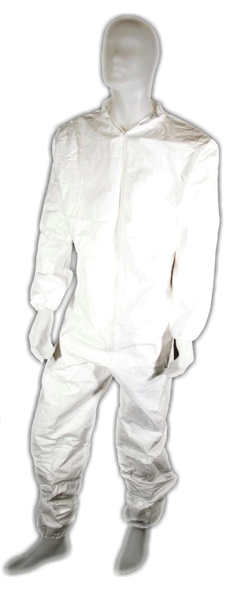 Tyvek coveralls with breathable back
