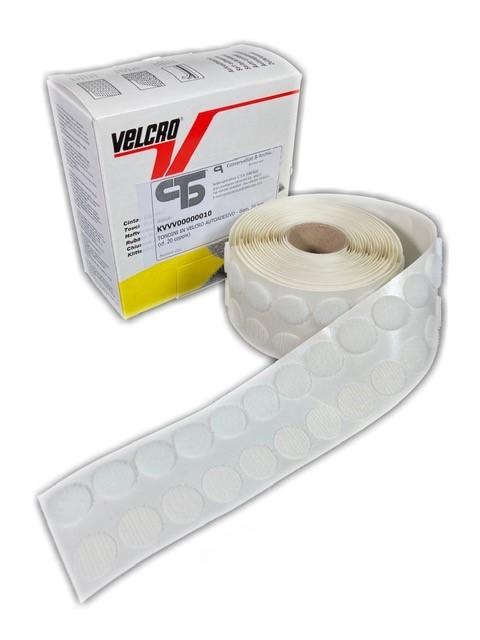 Self-adhesive velcro points