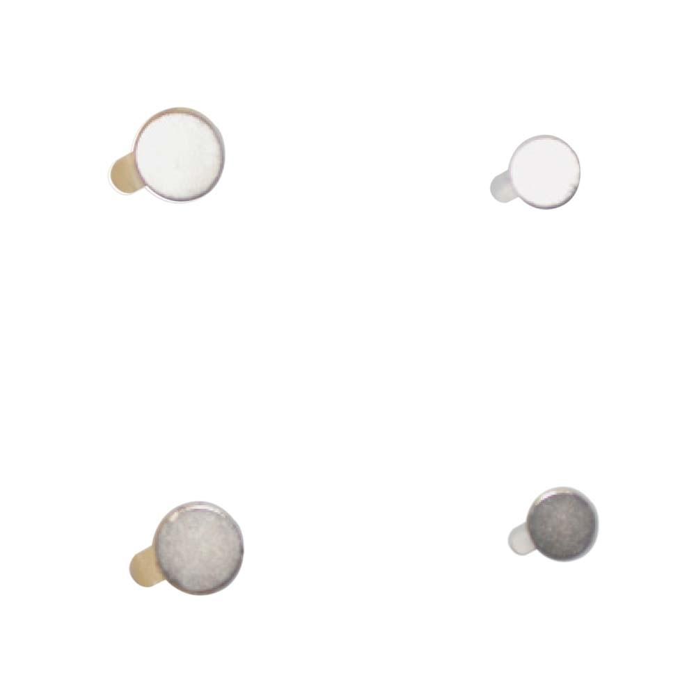 Self-adhesive round magnet plates