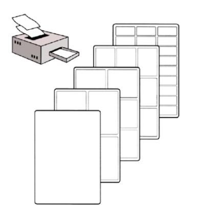Self-adhesive paper labels