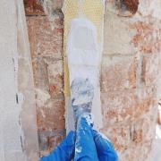 """Product Reference: Byzantine House """"Casa Torres"""" in Venice. Structural consolidation of the brick chimney shaft by laying aramid fiber strips fixed with our thixotropic epoxy resin EPO 121. Credits for information, photos and restoration to @uni.s.ve . Referenze prodotto: #CasaTorres, #Venezia. consolidamento strutturale del fusto del camino in mattoni con fasce di fibra aramidica incollate con la nostra resina epossidica in pasta #EPO121. . . . #CTS #CTSeurope #consolidation #artconservation #venice #epoxy #resin #artrestoration #restoration #conservation #restauro #conservazione #archival #culturalheritage #beniculturali #storage"""